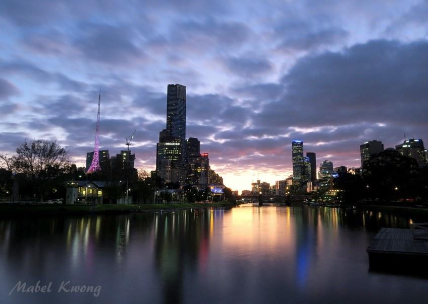 My city, Melbourne. Birrarung Marr, Yarra River.