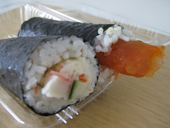 Salmon sushi (handroll) is all over Melbourne's CBD, extremely popular with many. But there are other kinds of Japanese food out there too. Photo: Mabel Kwong
