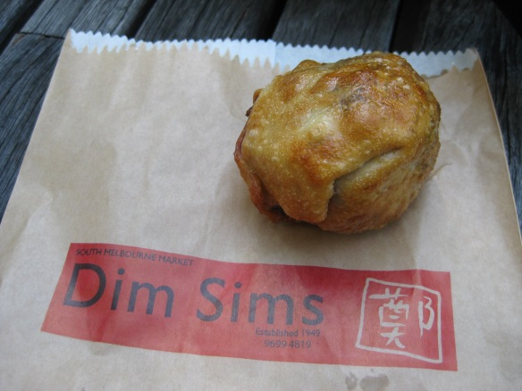 The famous South Melbourne dim sim, fried. It looks like a fried Western snack and it does indeed taste like one as I found out by trying it this week. Photo: Mabel Kwong