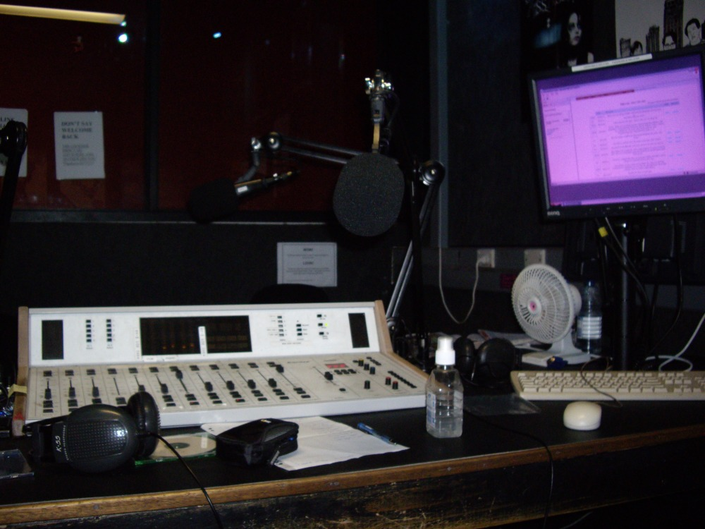 Without sufficient funding, the digital future of community radio looks bleak. SYN 90.7FM studios circa 2008. Photo: Mabel Kwong