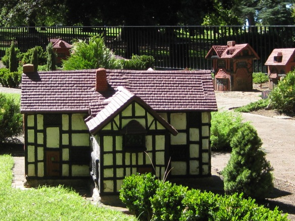 Some living the Australian dream like to model their houses after traditional architectural styles. A miniature house in 'Tudor Village' in Melbourne's Fitzroy Gardens. Photo: Mabel Kwong