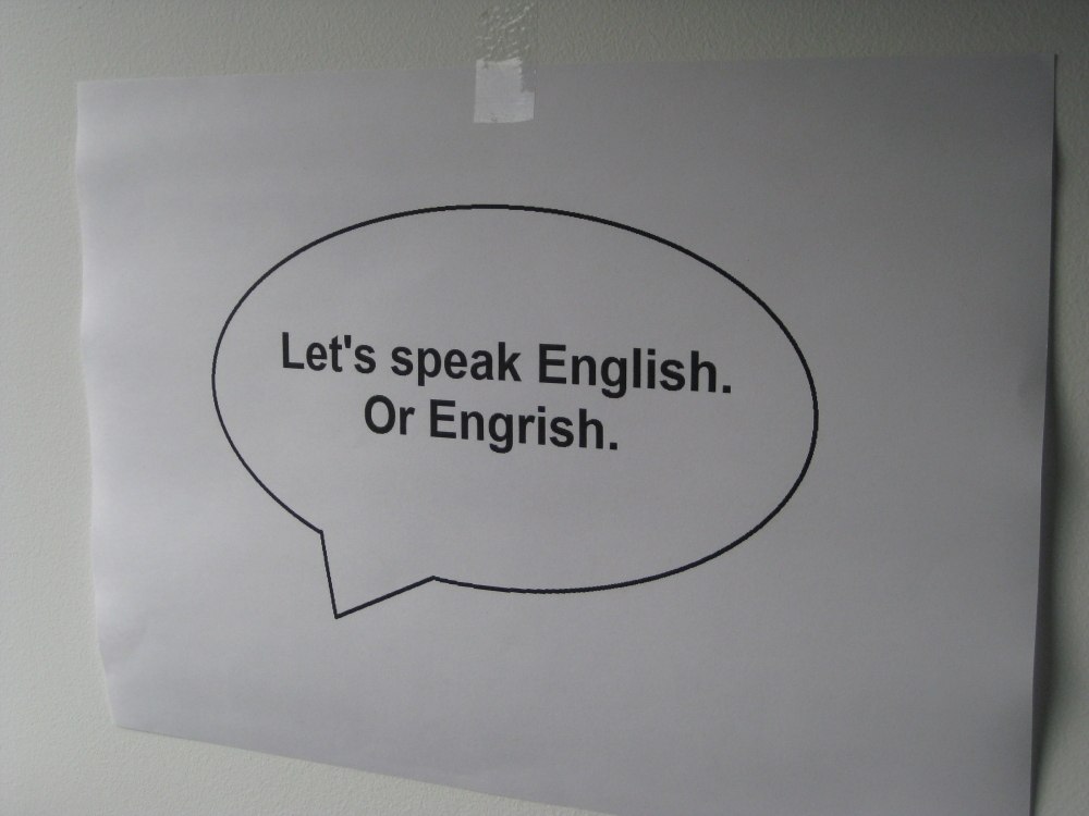 English is spoken differently by different people of different backgrounds. Photo: Mabel Kwong