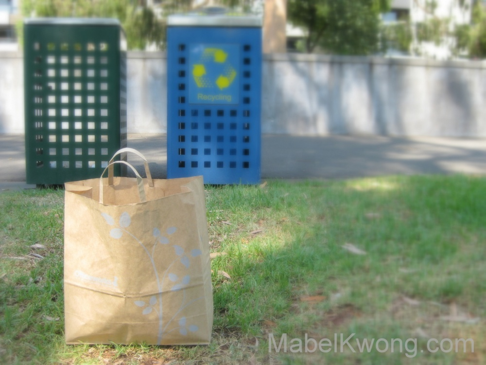 Paper bags seemingly aren't that popular in Asia. Plastic bags still are | Weekly Photo Challenge: Object. Photo: Mabel Kwong