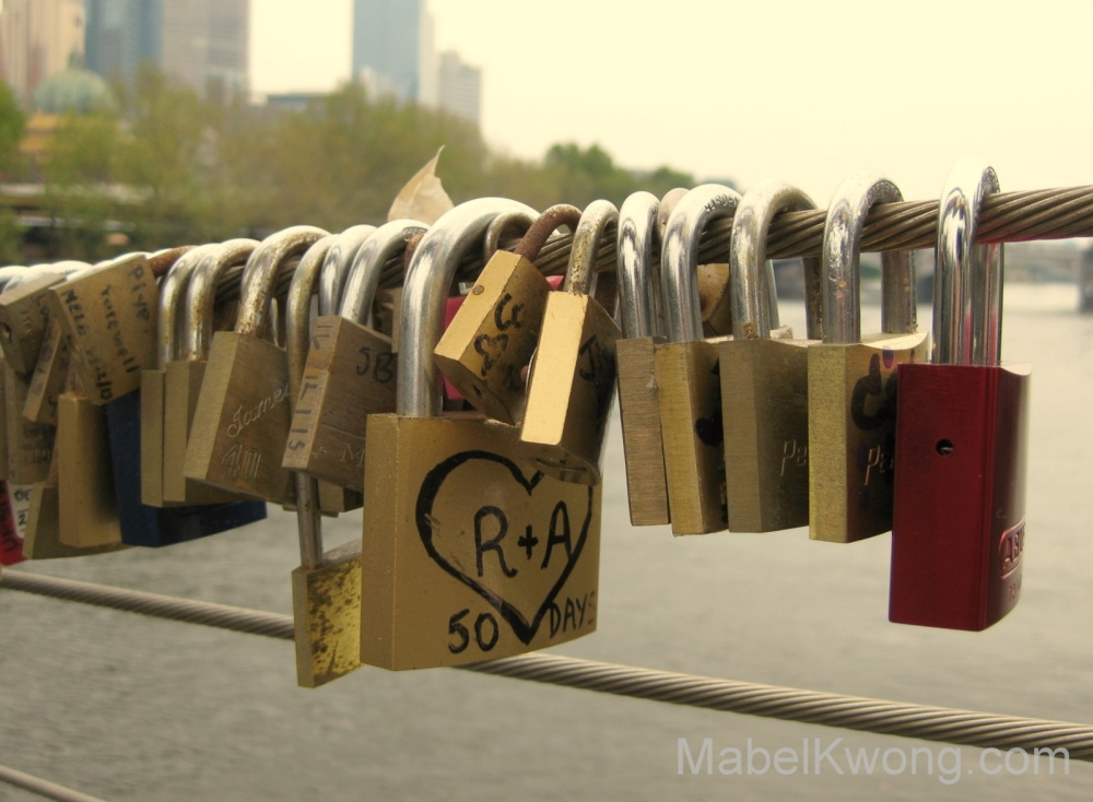 Love is something that I will always treasure. Love locks on Southbank footbridge. | Weekly Photo Challenge: Treasure.