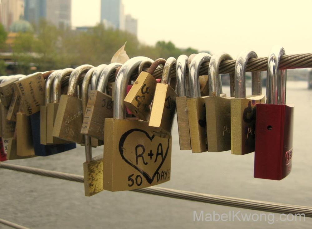 Love is something that I will always treasure. Love locks on Southbank footbridge. | Weekly Photo Challenge: Treasure.