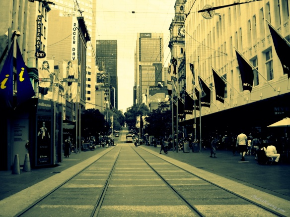 Wandering the timeless streets of Melbourne, sometimes it's hard to find an info booth | Weekly Photo Challenge: Street Life.
