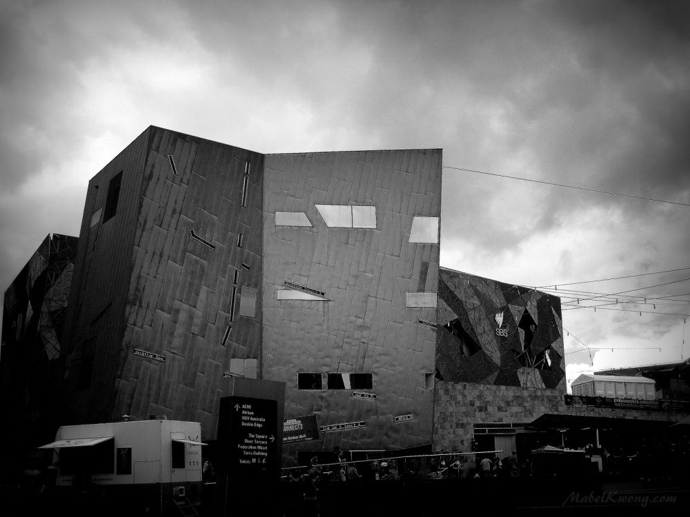 Melbourne's so-called monumental eyesore, Federation Square | Weekly Photo Challenge: Monument.