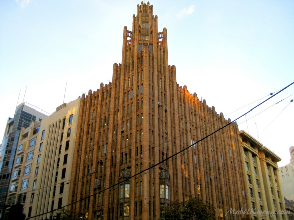 Gothic heritage office building. Manchester Unity Building | Weekly Photo Challenge: Work of Art.