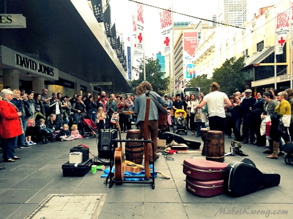 The distance between dreams, so near yet so far. Buskers playing, working, for free | Weekly Photo Challenge: Between.