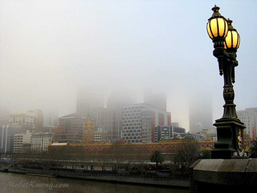 Layers of fog, layers of colour on a winter Melbourne morning | Photo Challenge: Texture.