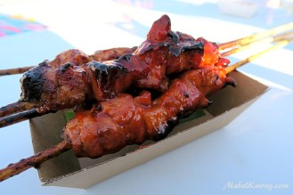 Chicken and pork skewers