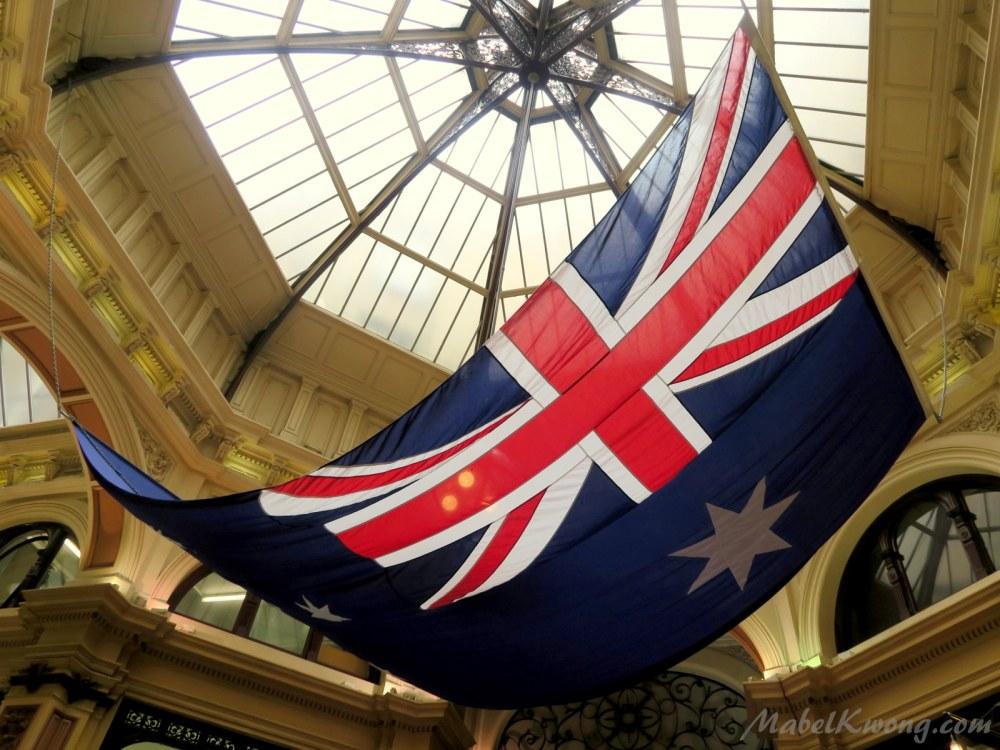 Australian flag. Block Arcade, Collins Street.