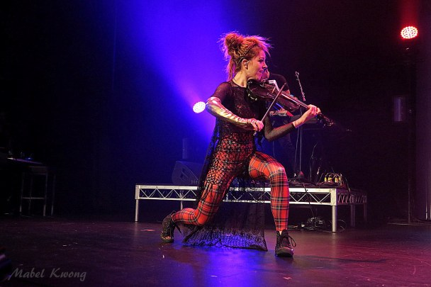 Electric Daisy Violin. Fancy footwork.
