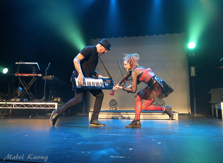 We're all different with different talents. Roundtable Rival duel - keytar versus violin.