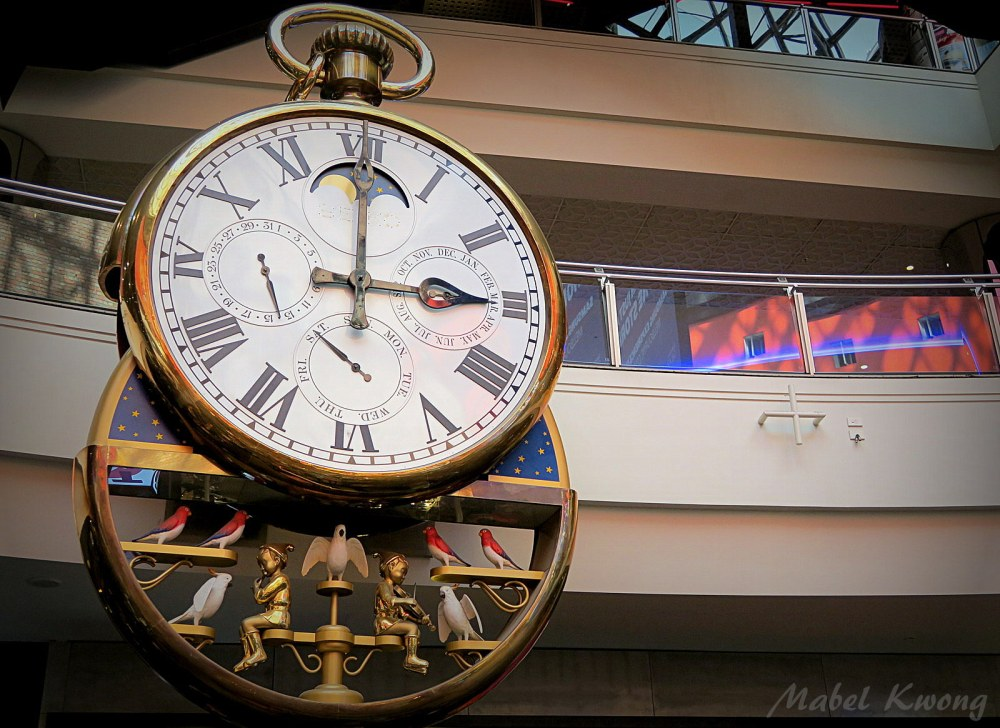 Melbourne Central clock. Puts on a show and plays Waltzing Matilda on the hour | Weekly Photo Challenge: Wall.
