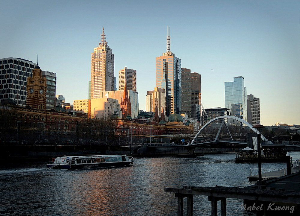 Concrete and dreams make up the city of Melbourne. Yarra River | Weekly Photo Challenge: Half and Half.