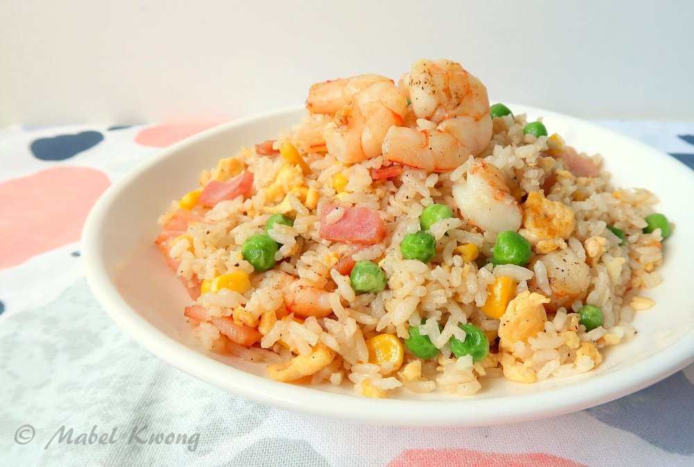 Yang Chow fried rice. A popular dish all over the world.
