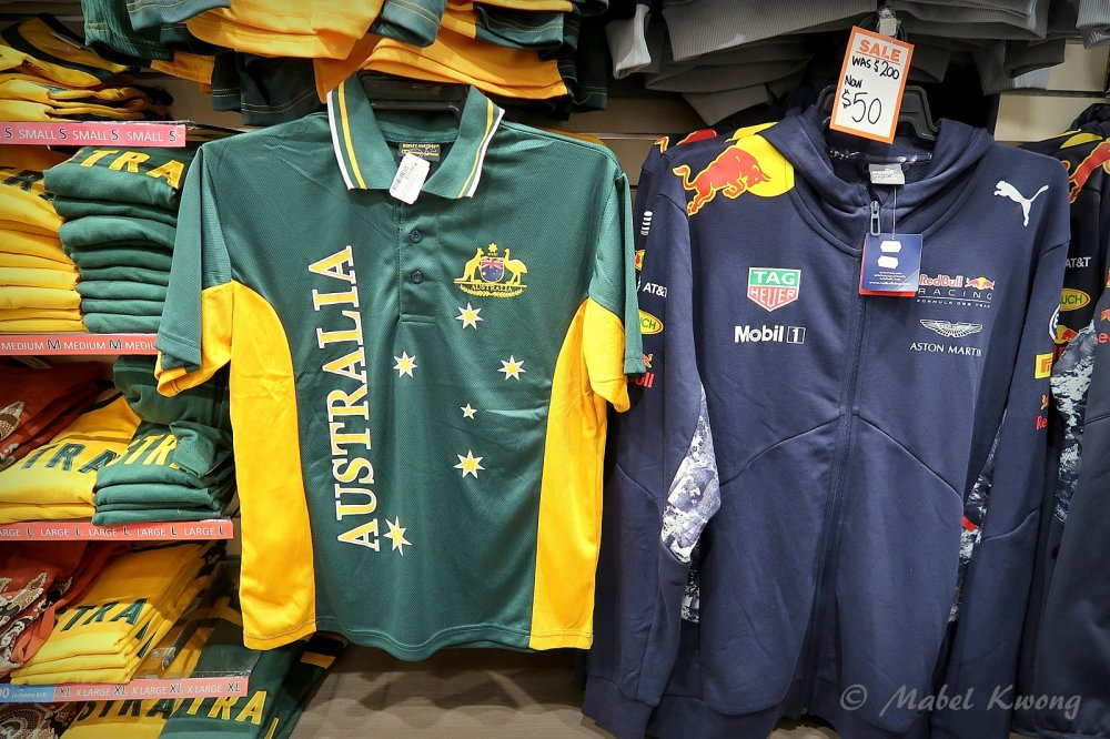 Australian sporting tops.