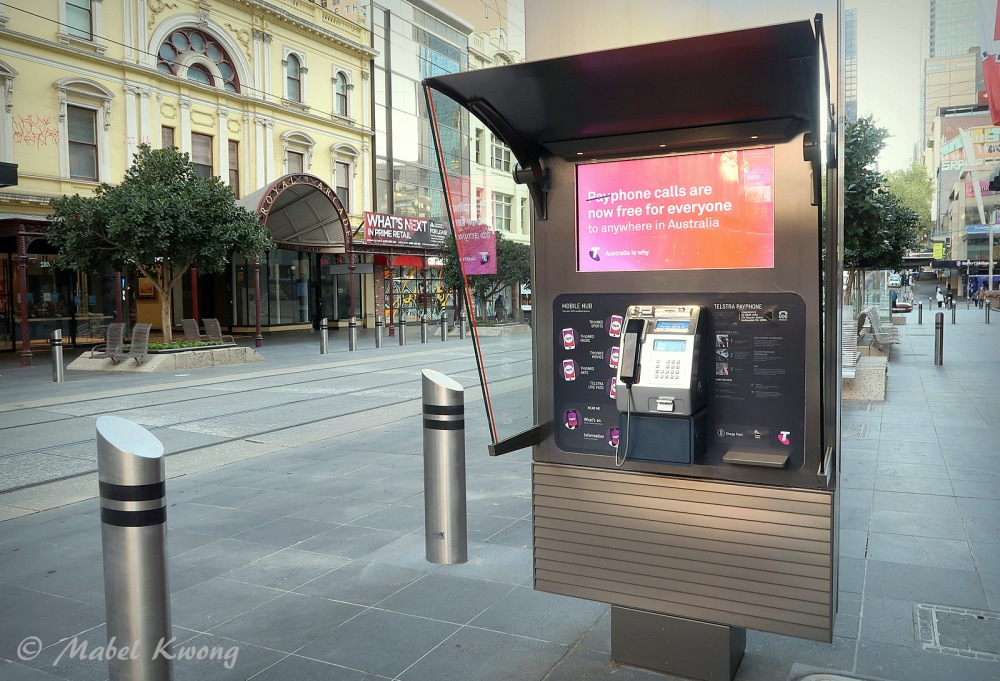 Public Payphone, Bourke Street Mall, Melbourne, Australia